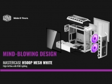 Cooler Master announces MasterCase H500P Mesh White PC case