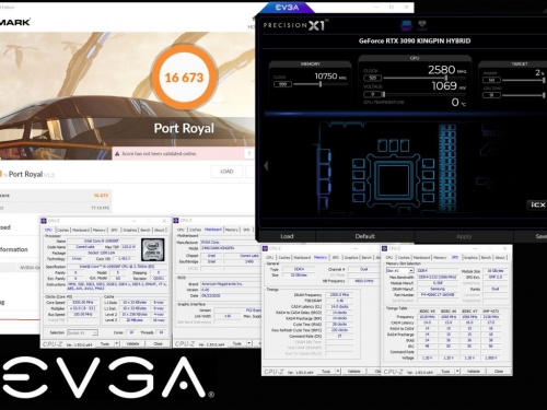 EVGA Geforce RTX 3090 KINGPIN shatters 3D Mark Port Royal record