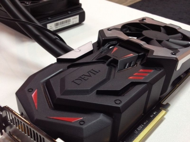 Powercolor shows new Devil Hybrid cooler at Computex