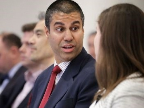 Ajit Pai cleans out his desk in January