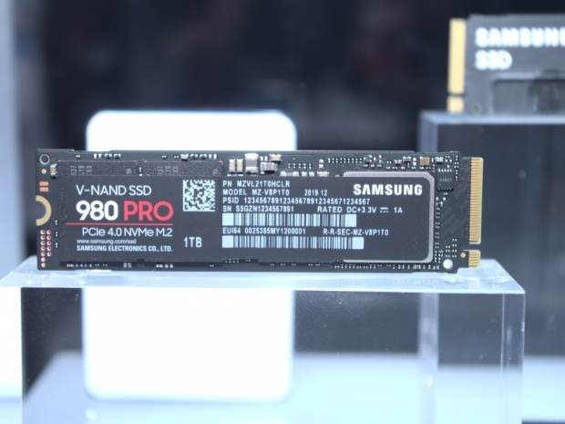 Samsung's 980 Pro PCIe Gen4 SSD spotted on CES 2020 floor